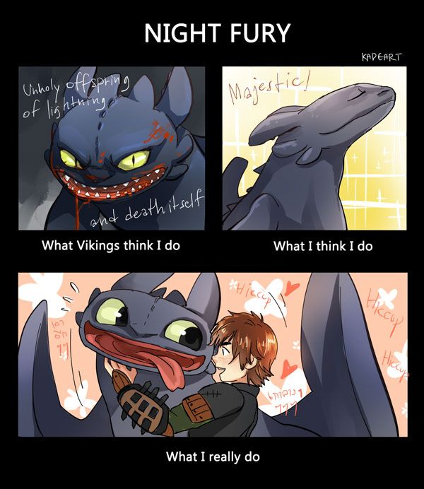 Drawn by kadeart ...  How to train your dragon, toothless, hiccup, night fury, dragon, viking