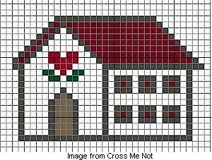 Free cross-stitch chart: Country house (Cross Me Not via Craft Gossip)