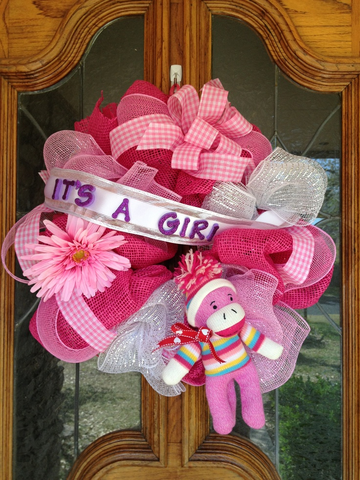 baby shower wreath event ideas pinterest