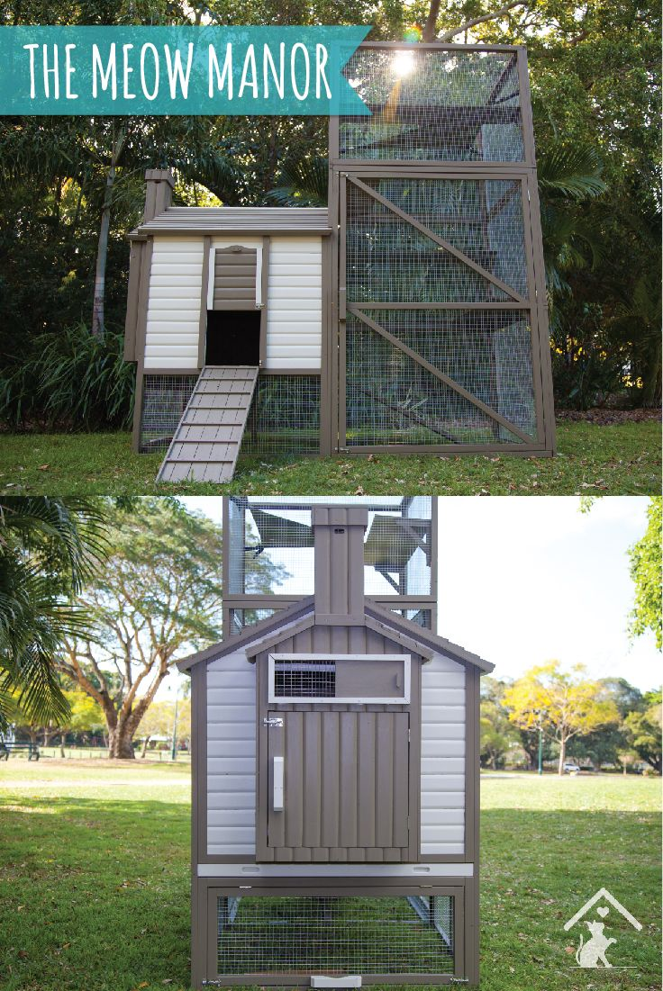 Give your cat the best with the Meow Manor outdoor cat enclosure. A safe and friendly space for your kitty to explore! Click the image to find out more. #meowmanor #outdoorcatenclosures #backyardcatenclosures