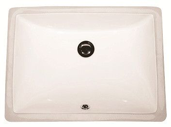 rectangular bisque porcelain undermount bathroom sink