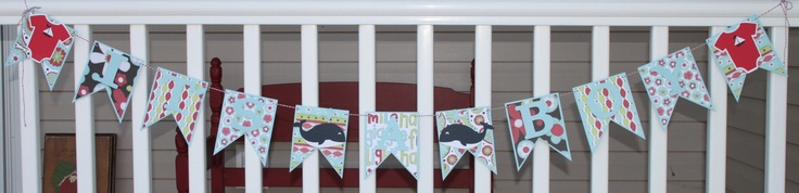It's A Boy Baby Shower Welcome Home Banner Bunting Whale Sail Boat. $15.25, via Etsy.