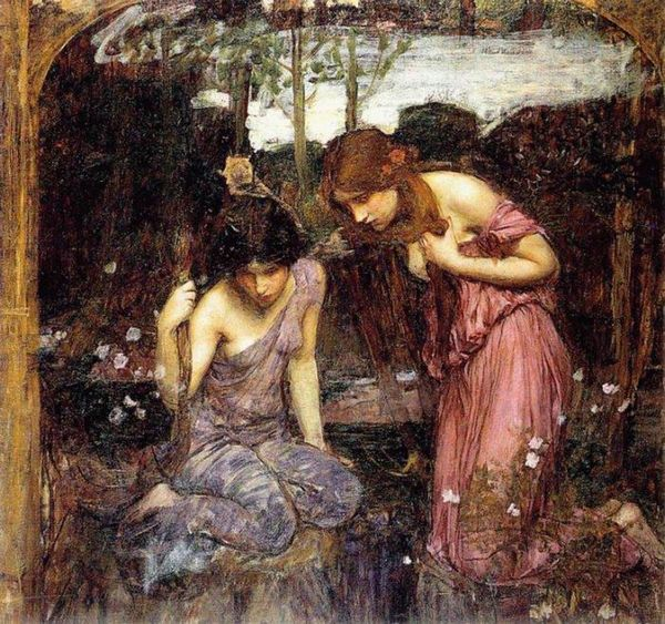Nymphs finding the Head of Orpheus, Study By John William Waterhouse