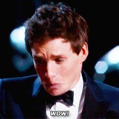Eddie Redmayne winning Best Actor