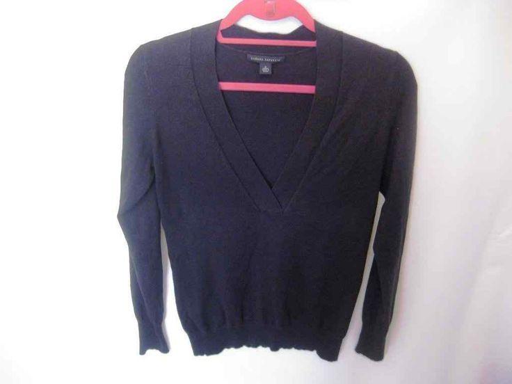 EUC Woman's Small Banana Republic Grey V-Neck Long Sleeve Sweater