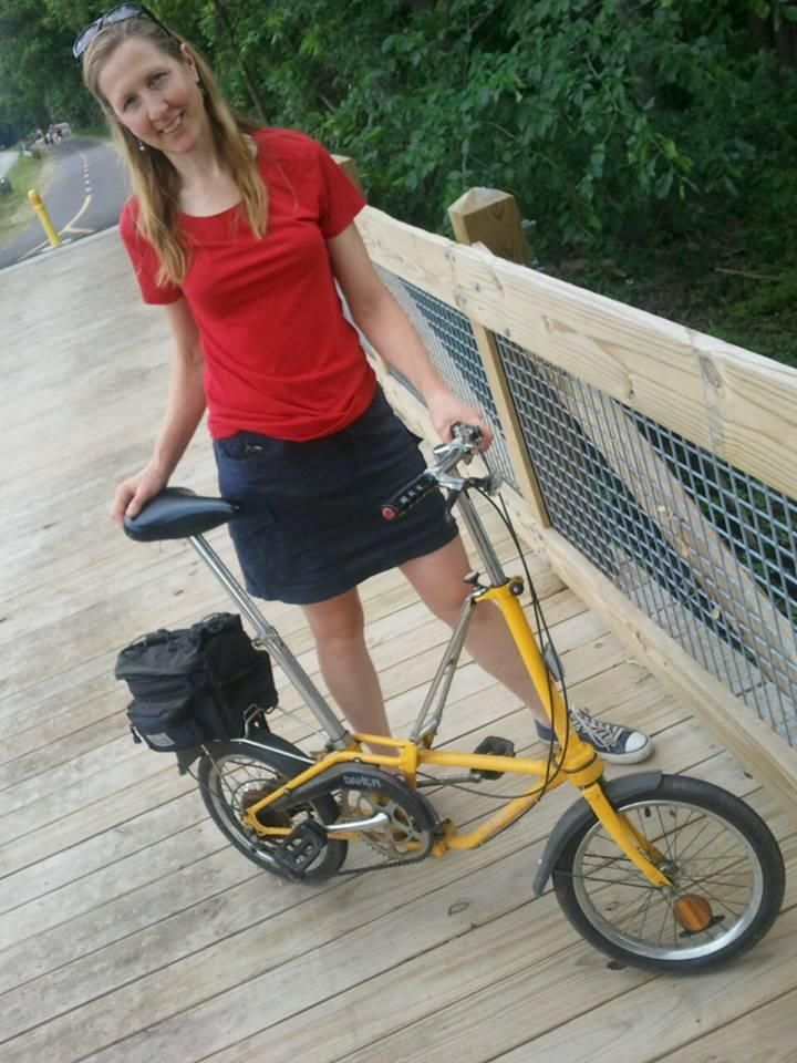 Twitter / bonniejocampbel: Here's what I rode on the Kalamazoo River Valley Trail - Dahon folding bike