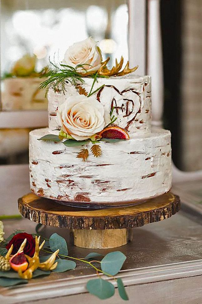 Wedding Cakes Rustic Two Tier With Images Wedding Cake Bride