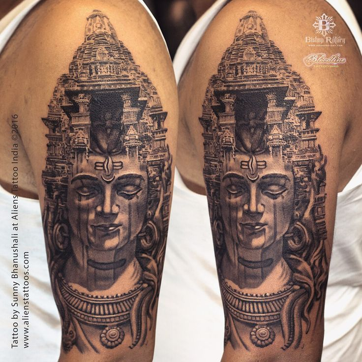 Temple of Lord Shiva Tattoo by Sunny Bhanushali at Aliens Tattoo India. Client traveled interstate to get this tattoo from us. He was amazed by our recent work on religious tattoos, specially lord shiva tattoos. He wished to get this tattoo (http://alienstattoos.com/index.php/portfolio/lord-shiva-tattoo-3/) which was made by our lead artist, Sunny Bhanushali. Sunny loves to create, beyond anything, he loves to work on new designs. he is not the one who will keep working on same designs…