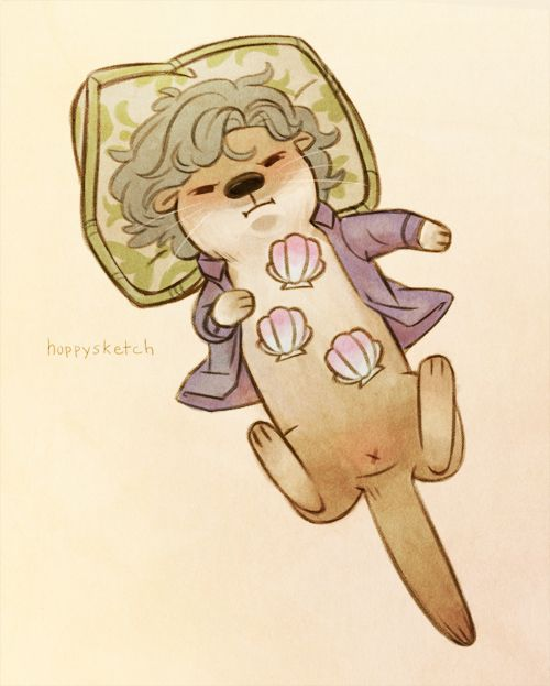 Otterlock by hoppysketch. // Pinning otter butts; just another one of those things that makes life interesting. :)