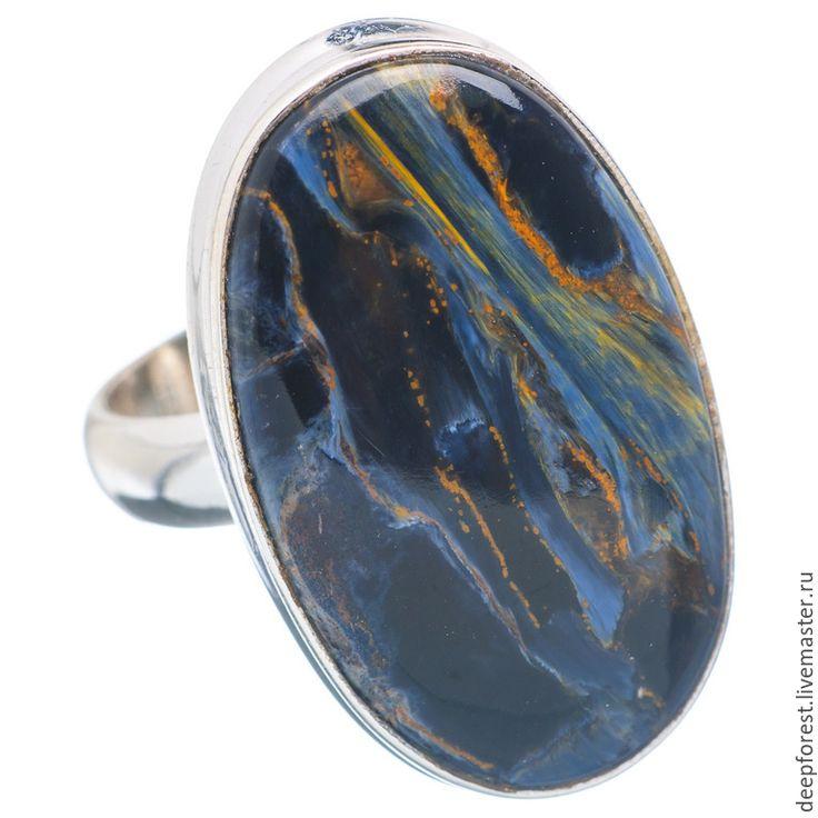 """Купить Кольцо серебро, петерсит натуральный """"Галилео"""" - серебро 925, серебряное кольцо, кольцо из серебра"""