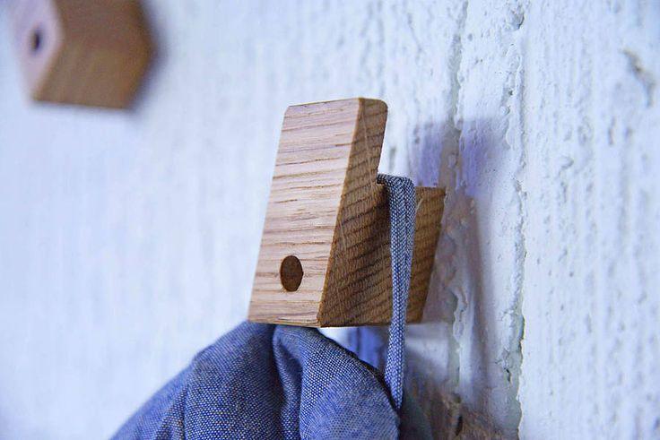 a set of four modern coat hooks by factorytwentyone | notonthehighstreet.com