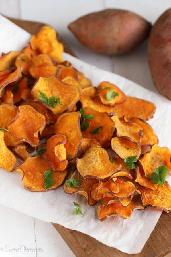 Baked Sweet Potato Chips | www.AfrikozSpices.com.au