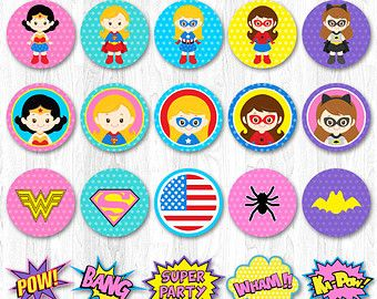 Superhero Birthday Party Banner Digital File INSTANT DOWNLOAD    ----------------------- ★★ Package Included ★★-----------------------------------