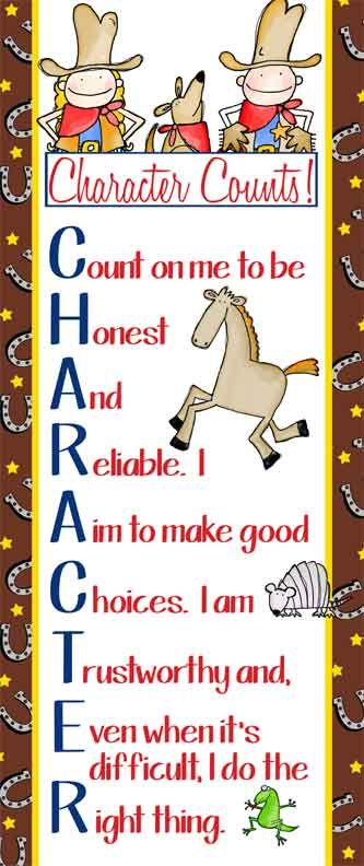 WESTERN Theme Classroom Decor / LARGE Banner / JPEG / Character Education Banner / ARTrageous Fun / Character Counts / horse shoes