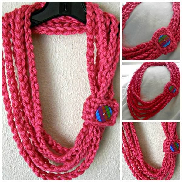 Starting Chain-cute necklace/scarf idea. No pattern, but easy enough for any crocheter to make.