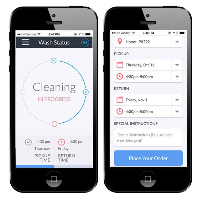 Meet Washio, an on-demand laundry and dry cleaning service.