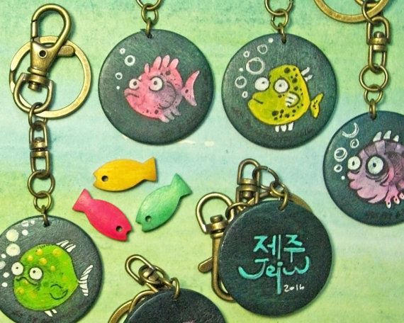 Fish Keyring by  Agne Latinyte (aka yuujin, yuujinaga) on Etsy