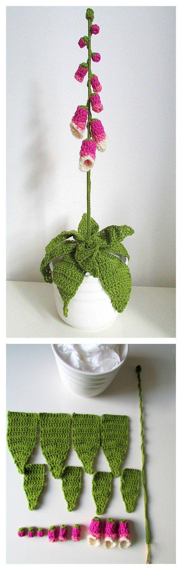 1685 best gehäkelte Blumen images on Pinterest | Crochet stitches ...