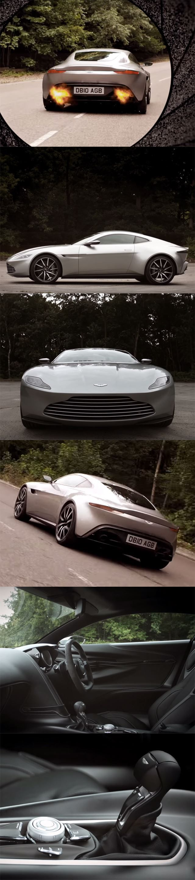 The new custom-made Aston Martin DB10 only for The Double O Agent, James Bond!
