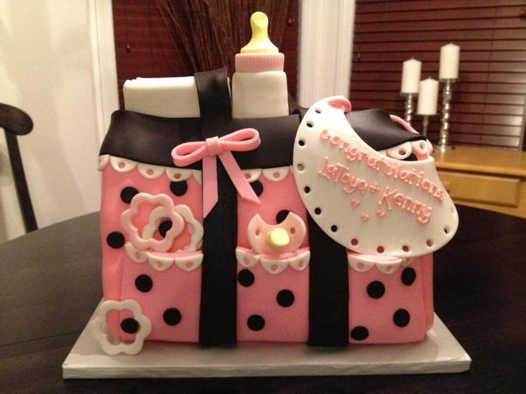 the diaper bag cake...  sweet mary's. new haven. ct