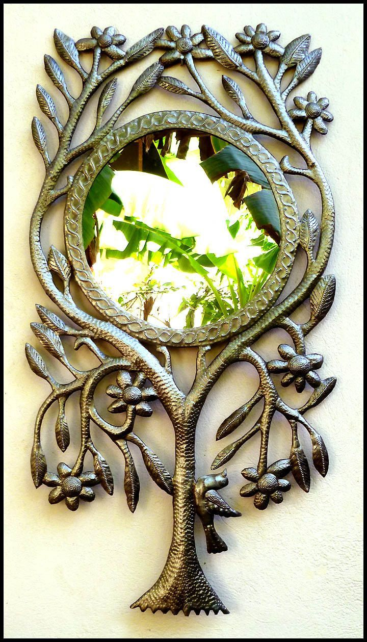 65 best mirrors metal mirrors metal wall decor images on metal mirror wall hanging decorative mirror tree design handcrafted haitian steel drum metal art haitian art x by metalartofhaiti on etsy amipublicfo Gallery