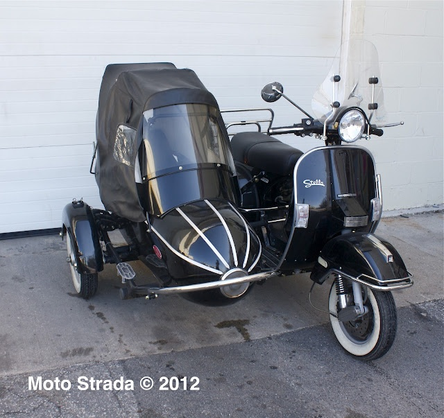 moto strada stella sidecar for sale scooters pinterest for sale strada and sidecar. Black Bedroom Furniture Sets. Home Design Ideas