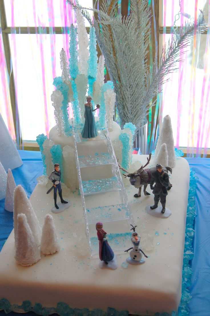 Disney Frozen Cake out of rock candy. Dramatic and DIY-able.
