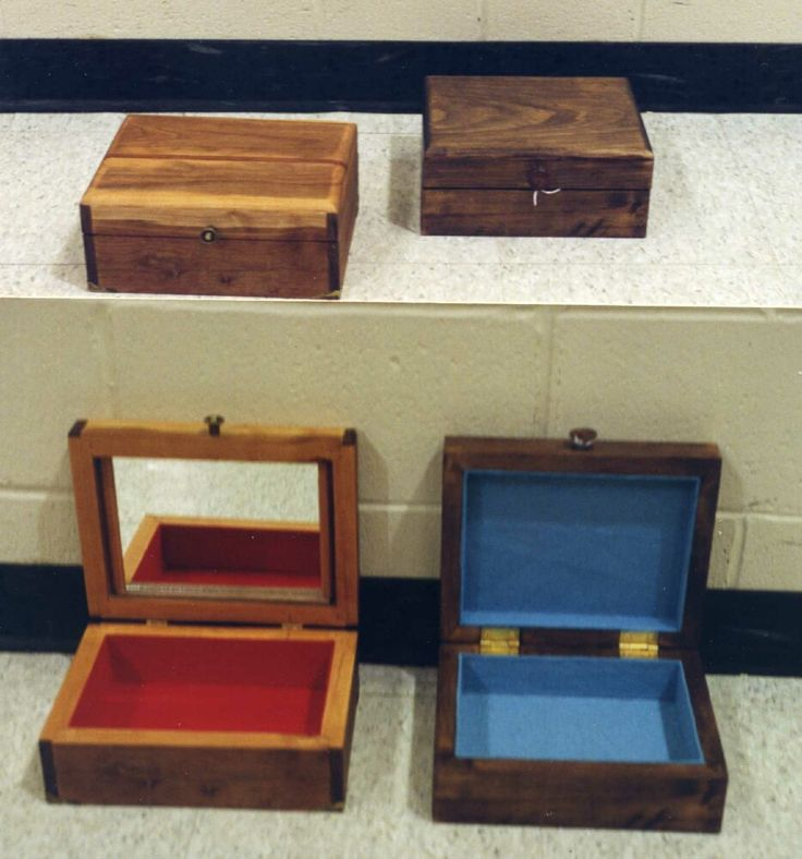 Small all purpose curio boxes created for craft shows. Made 1999 - 2001