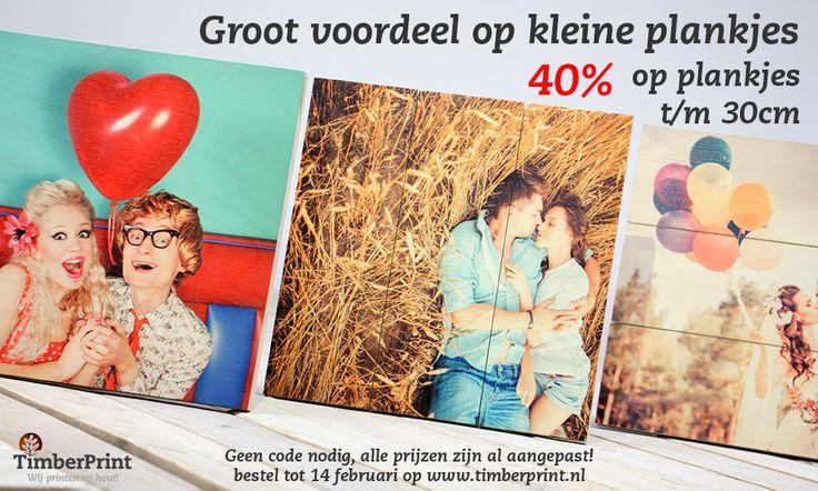 Valentijnskorting van 40% op veel houtsoorten t/m 14 Februari 2015 zie blog voor meer informatie over deze actie: https://www.timberprint.nl/blog/timberprint-helpt-om-jouw-valentijn-te-verrassen/   #fotoophout #korting #hout #valentijn #love #cadeau