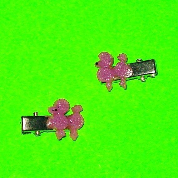 Poodle MiniClips https://www.etsy.com/ca/listing/248169568/grape-purple-poodle-hair-clips
