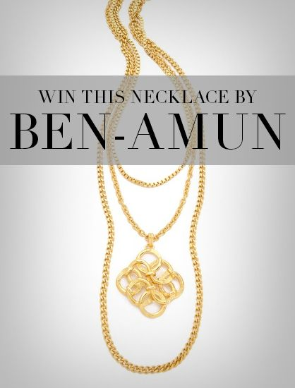 Win this layered pendant necklace from Ben-Amun!