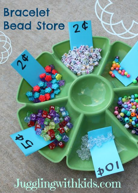 Fun activity for preschoolers.  Builds fine motor, math and classification skills!