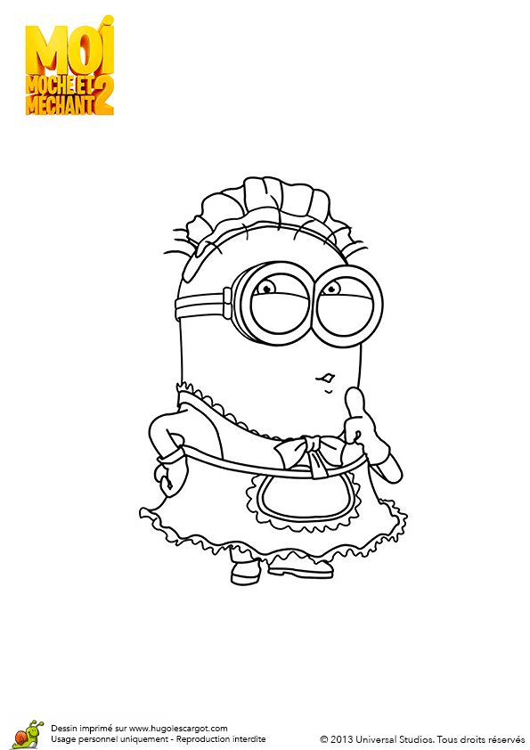12 best images about coloriages des minions on pinterest surf coloring pages and forts - Minion a imprimer ...
