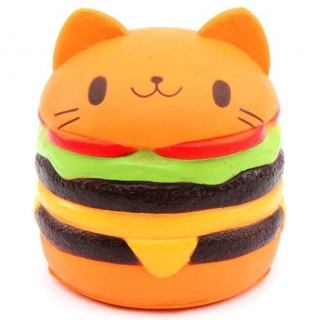 cute jumbo cat hamburger scented squishy kawaii