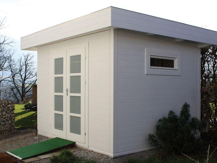 25+ Creative Gartenhaus Flachdach Modern Ideas To Discover And Try ... Blockbohlenhaus Im Garten Funktional Ausenbereich