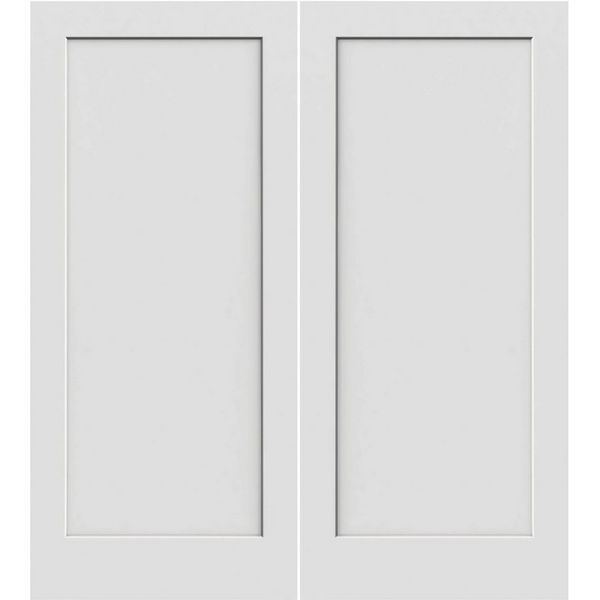 Prehung Interior Double Madison 1 Panel Door W Ball Catch Panel Doors Double Doors Interior Prehung Doors