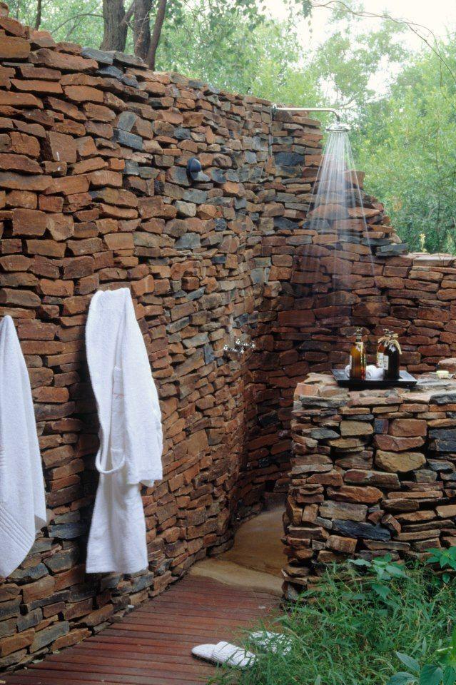 Oh yes. An outdoor shower is one of my dreams..... if I lived somewhere warm