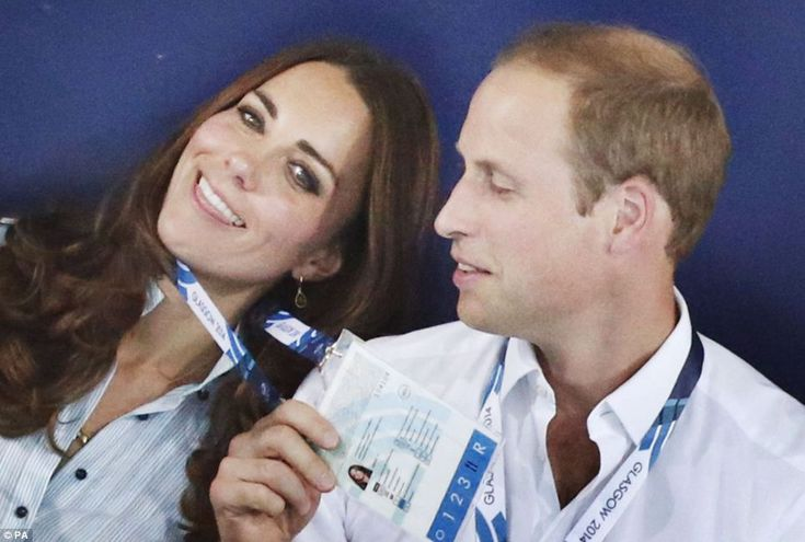 The Duke of Cambridge stepped in to help his over-heating wife today as they cheered on a Welsh swimming during their visit to the Commonwealth Games in Glasgow