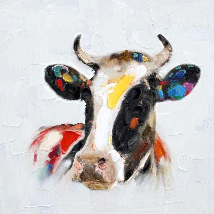 Compra vaca pintura del arte online al por mayor de China ...