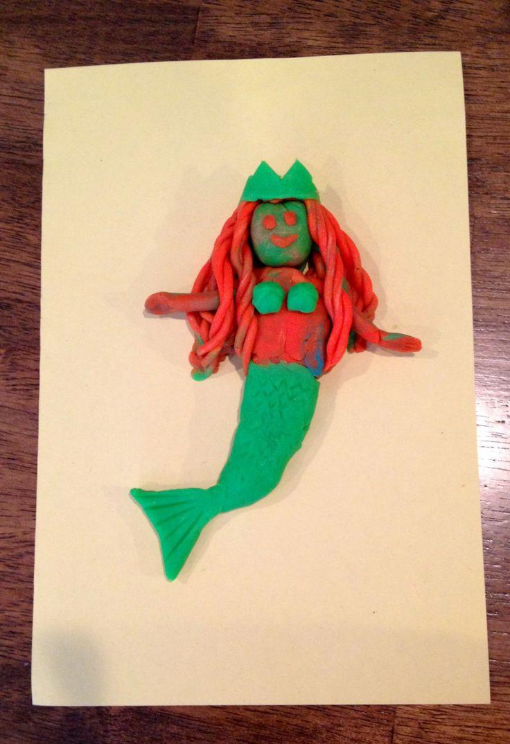 Emma And Mom Made A Play doh Mermaid Fun At Home