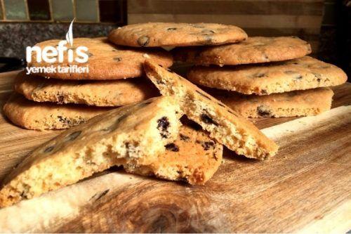 Amerikan Kurabiyesi (Damla Çikolatalı Cookies) Tarifi