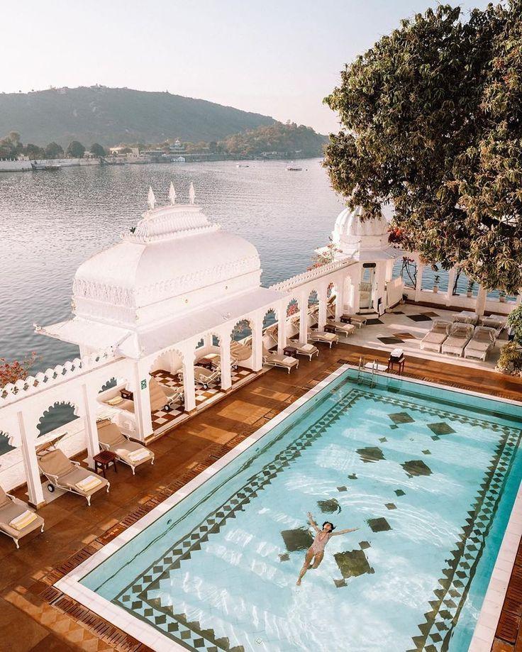 Peaceful vibes at the Taj Lake Palace in Udaipur, India
