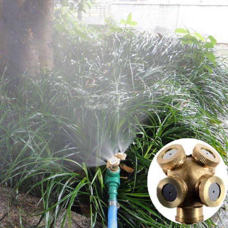 4 NozzleS Metal Spray Misting Garden Grass Lawn Impulse Sprinklers Irrigation