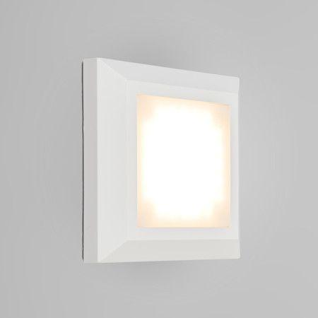 Wandleuchte Gem 1 Weiß Sehr Schön, Aus Hochwertigem Kunststoff Hergestellt,  Und Mit LED