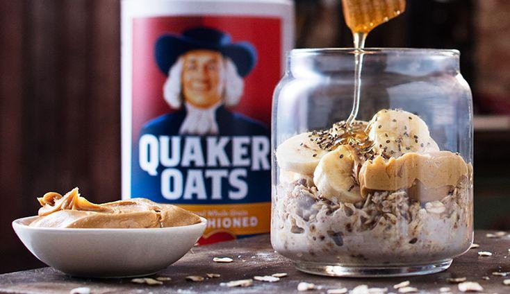 Peanut Butter Banana Overnight Oats from Quaker®
