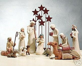 I think this is one of the most beautiful nativities.  Willow tree nativity