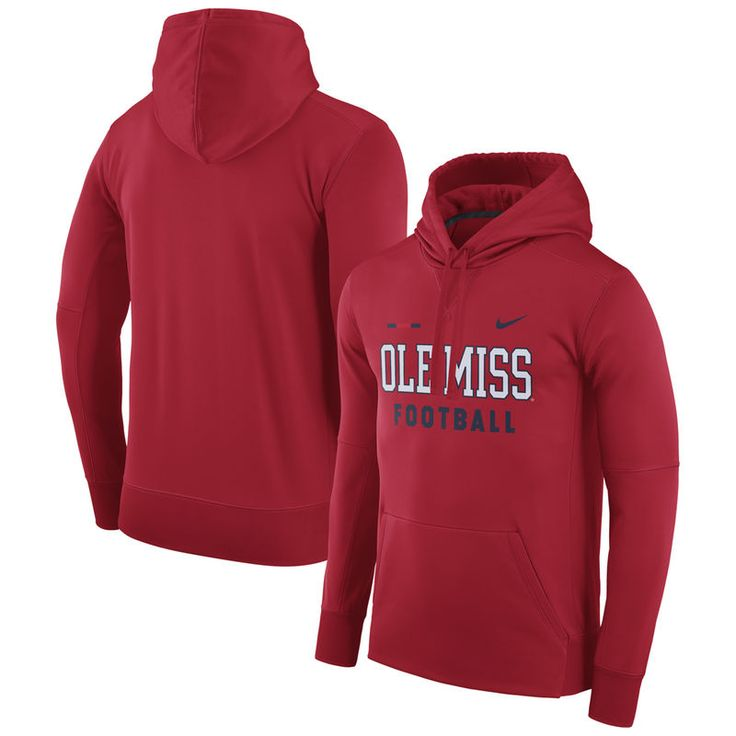 Ole Miss Rebels Nike 2017 Sideline Football DNA Circuit Therma-FIT Hoodie - Red