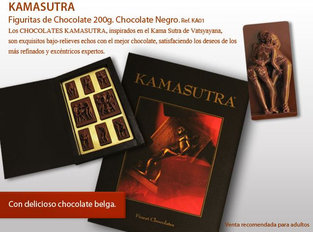 ¡Descubra nuestra Kamasutra hecha de chocolate belga!