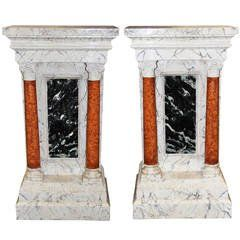 Rare Set of Six 18th Century Italian Doric Columns For Sale at 1stdibs