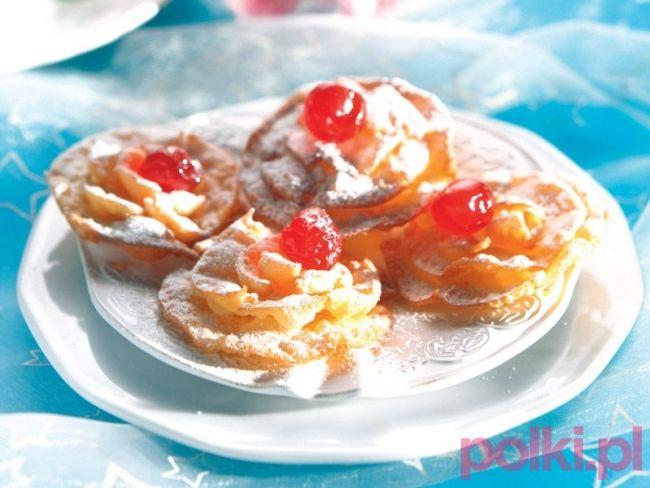ciastka karnawałowe róże przepis #polkipl
